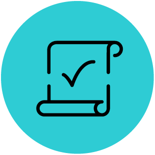 checklist icon teal and black